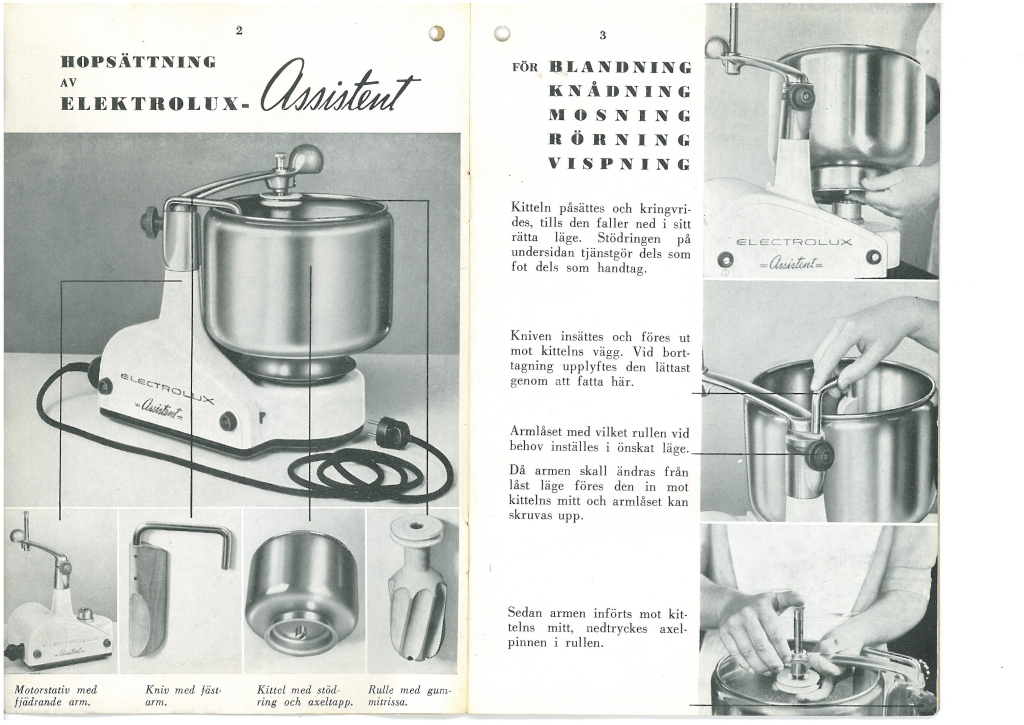 Electrolux Assistent Instruction Manual 1