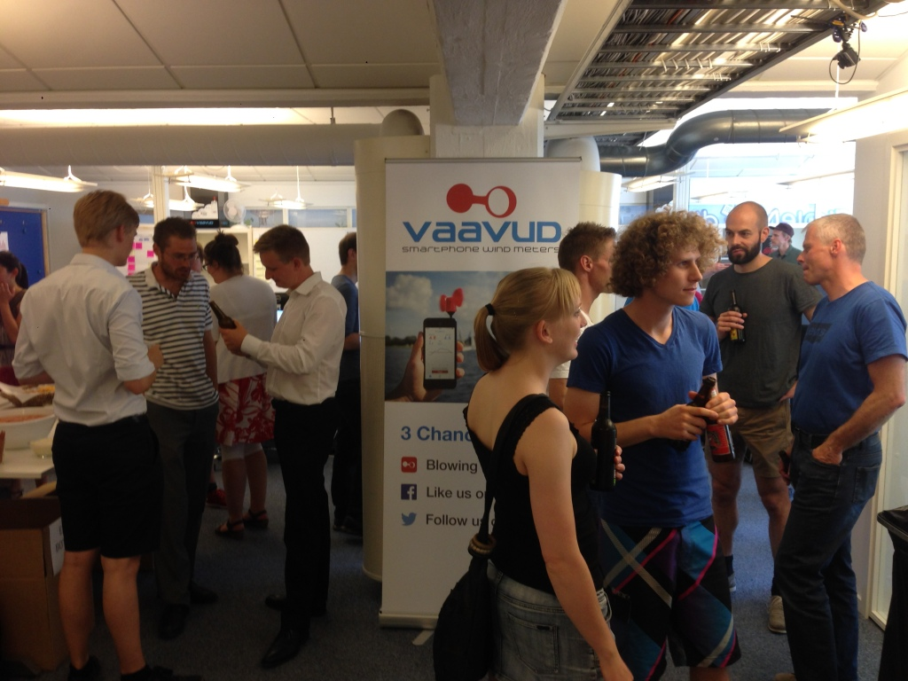 Vaavud Release Party for the Kickstarter campaign of the Wind Meter V 2.0
