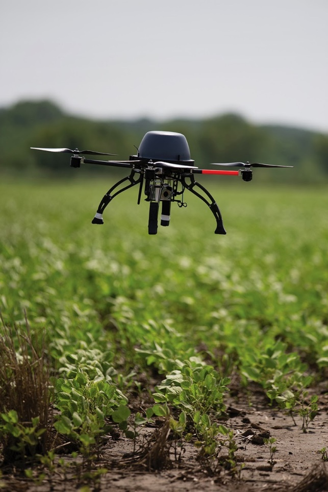 Drones can be used in agriculture by farmers to ensure good growth of their crops. They can monitor their fields and survey for potential threats at a much cheaper cost than alternative methods